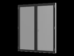 Terrassedør med vinduesprofil - 2-fløjet